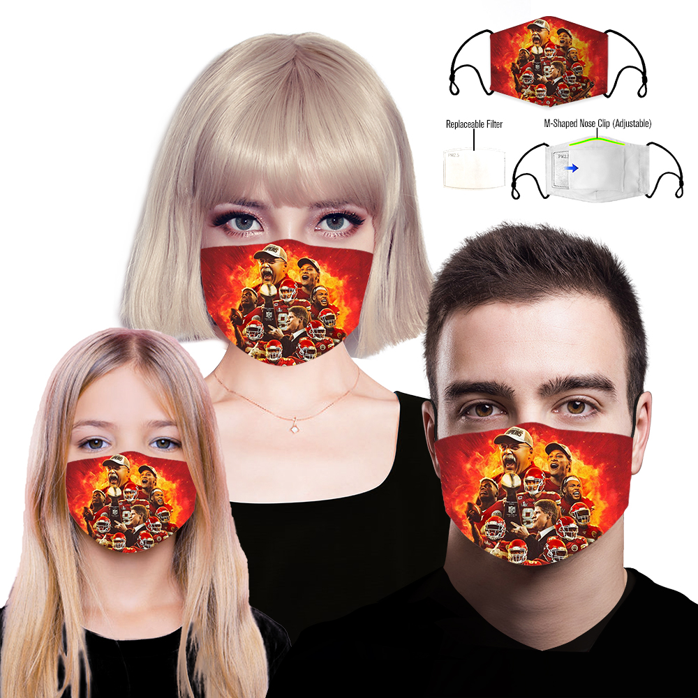 Kansas City Chiefs Face Mask 3d Limited Edition Sport Fantasic