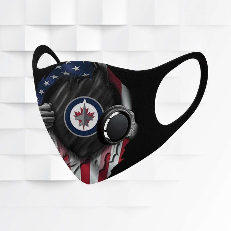 Nhl Winnipeg Jets N95 Black Face Protection Sport Fantasic