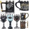 Game of Thrones Mug Goblet Stainless Steel Resin 3D Beer Tankard Coffee Cup Wine Glass Mugs 600ml 400ml 200ml BEST GOT Fan Gift