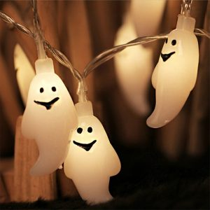 1.5m 10Led Halloween Pumpkin Ghost Skeletons Bat Spider Led Light String Festival Bar Home Party Decor Halloween Ornament